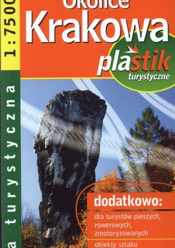 Okładka książki Okolice Krakowa Plastik Mapa turystyczna 1:75000