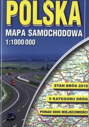 Okładka książki Polska mapa samochodowa 1:1 000 000
