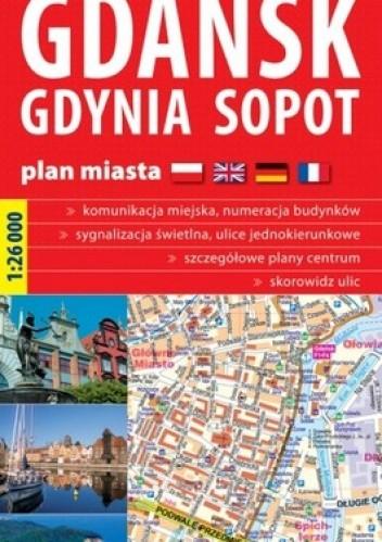 Okładka książki Gdańsk, Gdynia, Sopot. Plan miasta. 1:26 000 ExpressMap