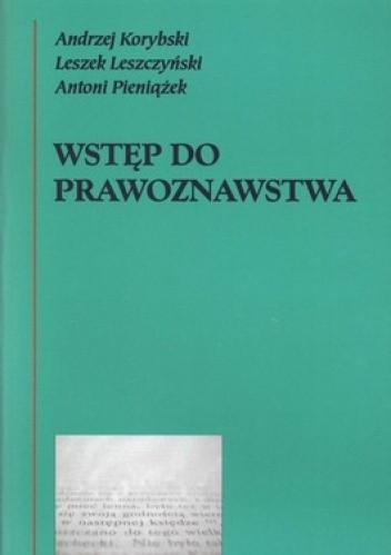 Okładka książki Wstęp do prawoznawstwa