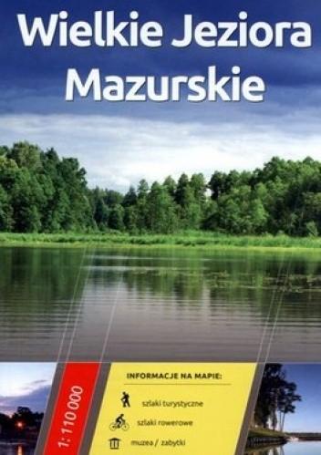 Okładka książki Wielkie Jeziora Mazurskie. Mapa turystyczna. 1:110 000 Daunpol