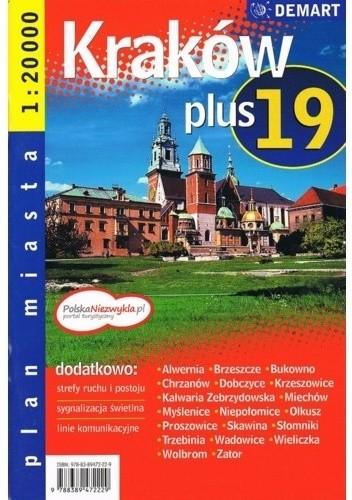 Okładka książki Kraków plus 19. Plany miasta. 1:20 000 Demart