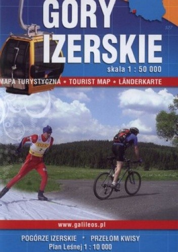 Okładka książki Góry Izerskie. Mapa turystyczna. 1:50 000 Plan