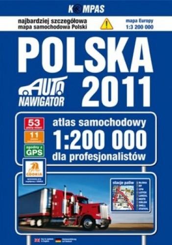 Okładka książki Polska 2011. Atlas samochodowy. 1:200 000