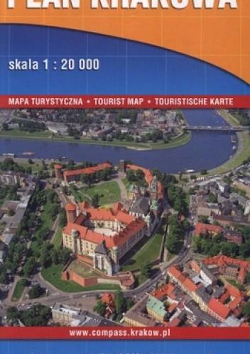 Okładka książki Plan Krakowa. Mapa turystyczna. 1:20 000  Compass