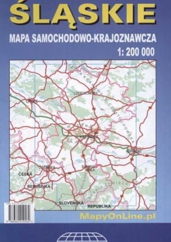 Okładka książki Województwo śląskie. Mapa samochodowo-krajoznawcza. 1:200 000 Witański