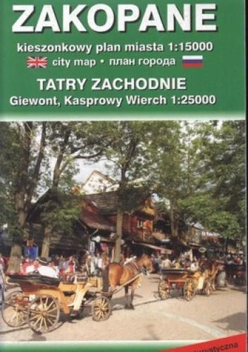 Okładka książki Zakopane. Kieszonkowy plan miasta. 1:15000  Karta