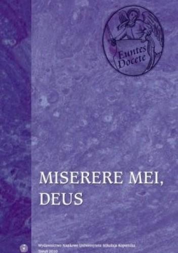 Okładka książki Miserere mei, Deus. Psalm 50 (51) w interpretacji św. Tomasza z Akwinu