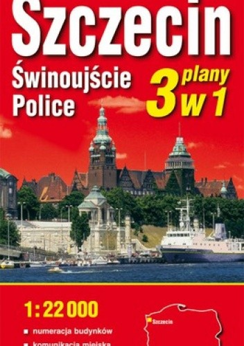 Okładka książki Szczecin, Świnoujście, Police. Plan miasta. 1:22 000 ExpressMap