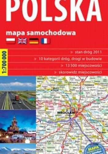 Okładka książki Polska - Mapa samochodowa 1:700 000