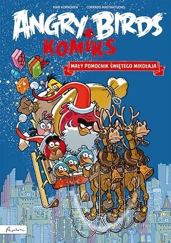 Okładka książki Angry Birds. Komiks. Mały pomocnik Świętego Mikołaja