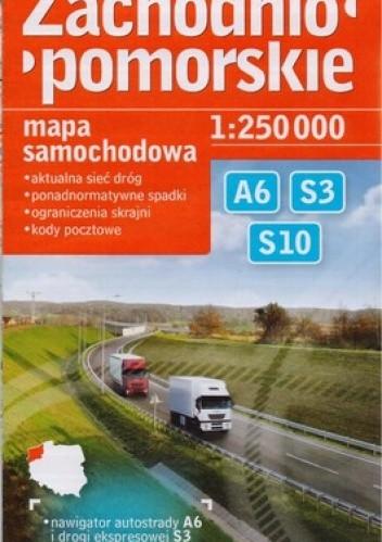 Okładka książki Zachodniopomorskie. Mapa samochodowa 1:250000 DEMART