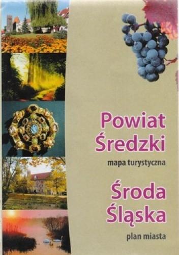 Okładka książki Powiar Średzki. Mapa turystyczna 1: 65000, Środa Śląska. Plan miasta 1: 12500 BIK