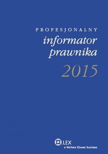 Okładka książki 2015 kalendarz książkowy. Profesjonalny informator prawnika