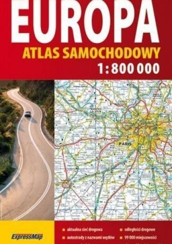 Okładka książki Europa.Atlas samochodowy.1: 800 000 ExpressMap
