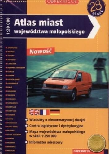 Okładka książki Atlas miast województwa małopolskiego 1:20000