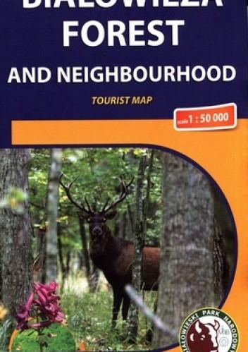 Okładka książki Białowieża forest and neighbourhood. Mapa turystyczna. 1: 50 000. Compass