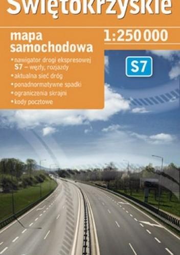 Okładka książki Świętokrzyskie TIR. Mapa samochodowa. 1:250 000 Demart