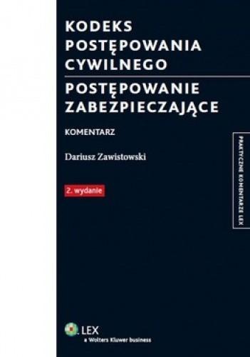 Okładka książki Kodeks postępowania cywilnego. Postępowanie zabezpieczające