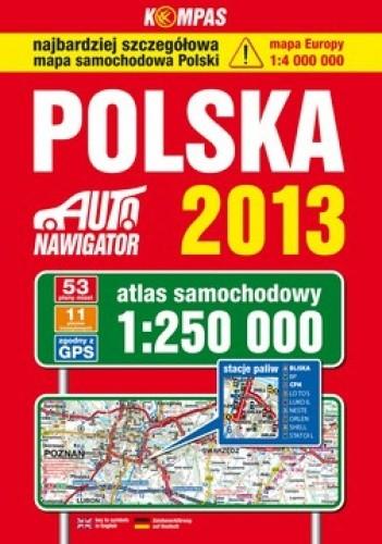 Okładka książki Polska. Atlas samochodowy. 1:250 000 KOMPAS