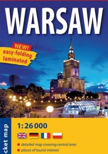 Okładka książki Warsaw. Plan miasta. Kieszonkowy, laminowany. 1:26 000. ExpressMap