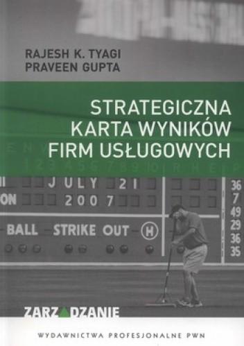 Okładka książki Strategiczna karta wyników firm usługowych
