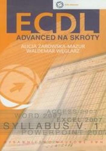 Okładka książki ECDL Advanced na skróty + CD