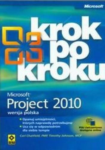 Okładka książki Microsoft Project 2010 krok po kroku