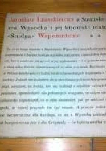 """Okładka książki Stanisława Wysocka i jej kijowski teatr """"Studya"""""""