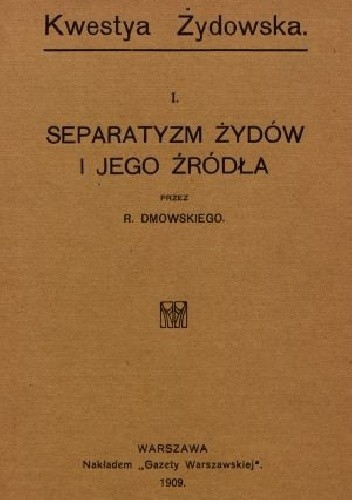 Okładka książki Separatyzm Żydów i jego źródła