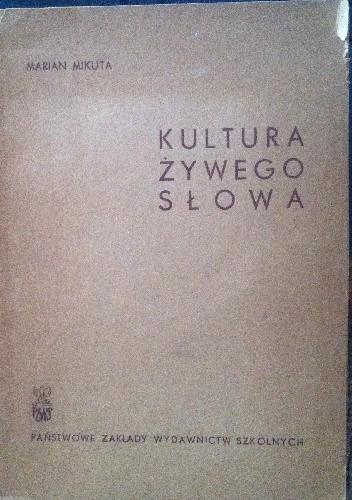 Okładka książki Kultura żywego słowa
