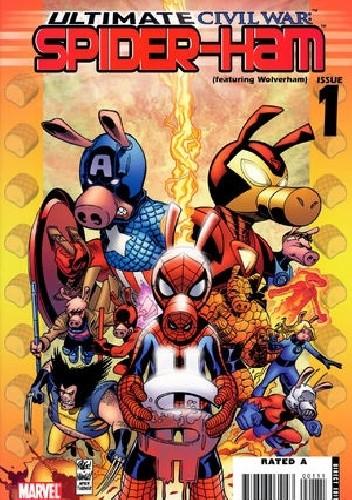 Okładka książki Ultimate Civil War: Spider-Ham  #1