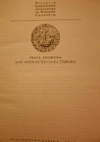 Okładka książki Historia budownictwa okrętowego na wybrzeżu Gdańskim