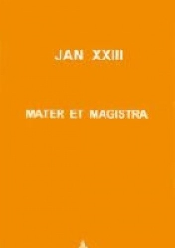 Okładka książki Mater et magistra