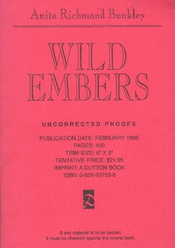 Okładka książki Wild Embers
