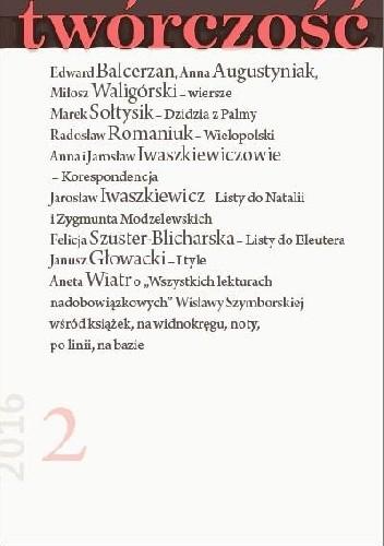 Okładka książki Twórczość nr 2 - 2016