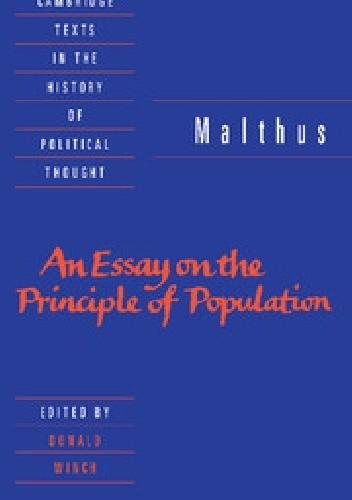 Okładka książki An Essay on the Principle of Population
