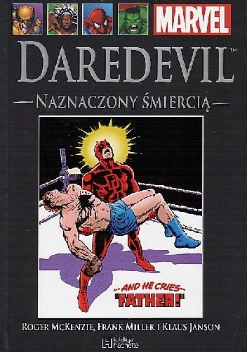 Okładka książki Daredevil. Naznaczony śmiercią