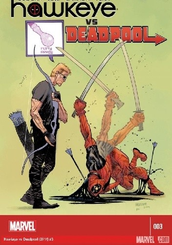 Okładka książki Hawkeye vs. Deadpool #3
