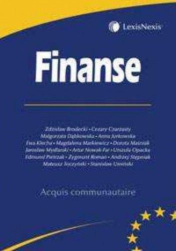 Okładka książki Finanse - seria Acquis communautaire