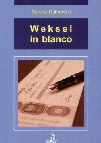 Okładka książki Weksel in blanco