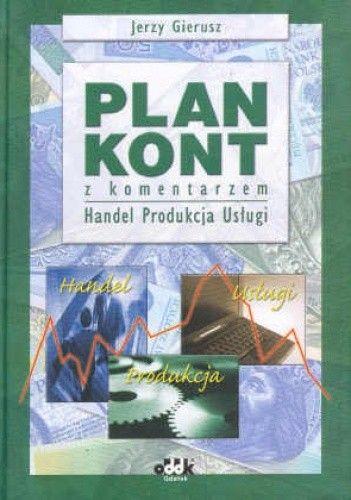 Okładka książki Plan kont z komentarzem Produkcja handel usługi