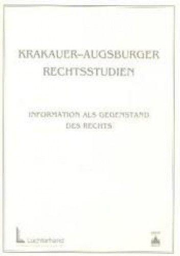 Okładka książki Krakauer Augsburger rechtsstudien