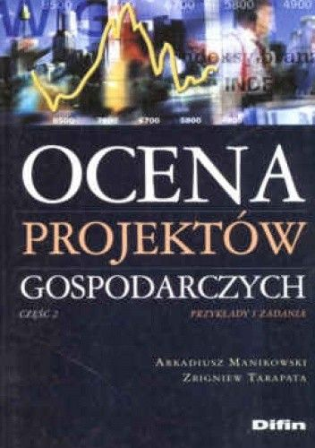 Okładka książki Ocena projektów gospod.cz.2 przykłady i zad. - Manikowski Arkadiusz