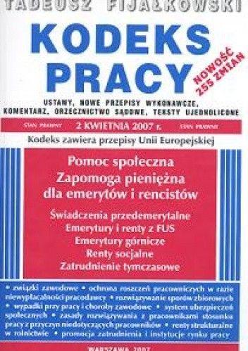 Okładka książki Kodeks pracy /stan prawny 2,04,2007/