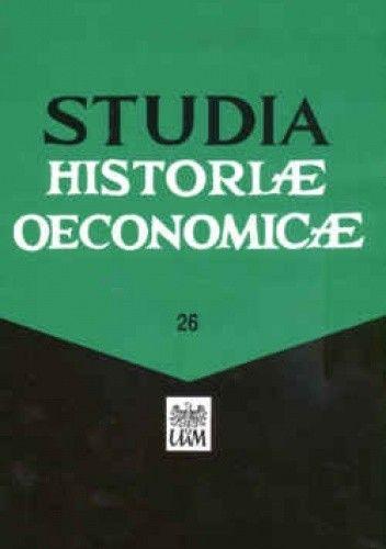 Okładka książki Studia historiae oeconomicae