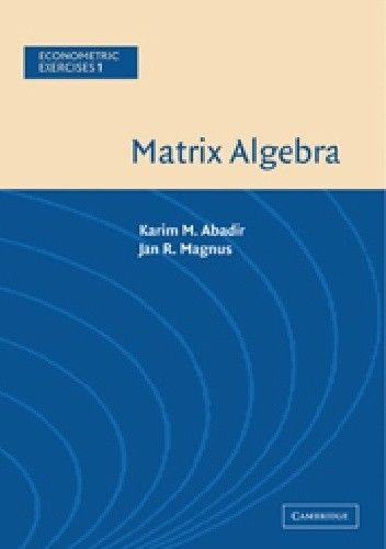 Okładka książki Matrix algebra