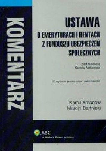 Okładka książki Ustawa o emeryturach i rentach z FUS