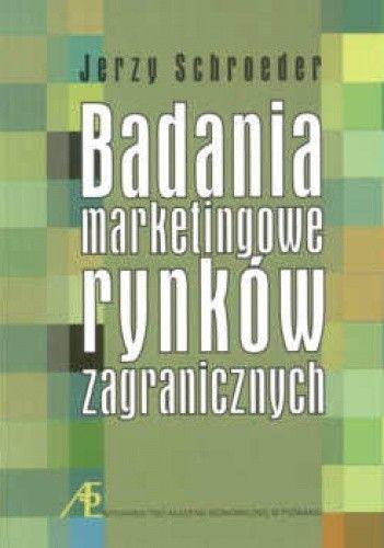 Okładka książki Badanie marketingowe rynków zagranicznych