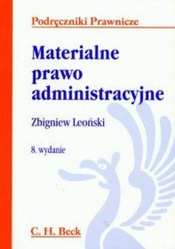 Okładka książki Materialne prawo administracyjne